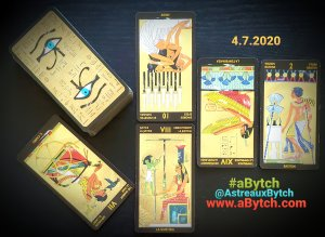 4 Card Genral Tarot Spread using Tarot Nefertari by Lo Scarebo